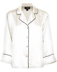 Maison de Papillon - Blanc Mitch Silk Pajama Top - Lyst