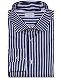 Marol - Midnight Blue Awning Stripe Dress Shirt 41 Metric - Lyst