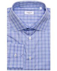Marol - Sky Blue Plaid Dress Shirt 42 Metric - Lyst