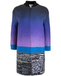 Akris Punto - City Print Long Bomber Coat - Lyst