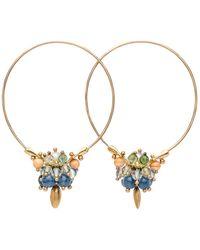 Ted Muehling - Kyanite Mix Small Hoop Earrings - Lyst