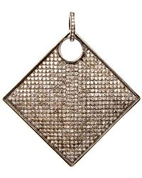 Hannah Ferguson - Diamond Pave Geometric Pendant - Lyst