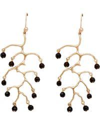 Julie Cohn - Staghorn Onyx Earrings - Lyst