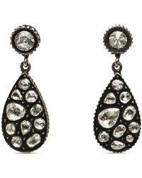Yossi Harari - Rose Cut Diamond Mosaic Drop Earrings - Lyst