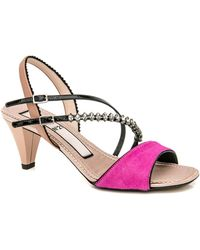 N°21 - Embellished Sandals With Patent Leather And Pony Hair - Lyst