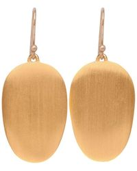 Ted Muehling - 24k Gold Vermeil Large Chip Earrings - Lyst