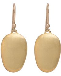 Ted Muehling | 18k Green Gold Small Chip Earrings | Lyst