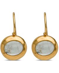 Darlene De Sedle Small Oval Aquamarine Earrings - Black