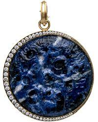 Sylva & Cie - Lapis Moon Pendant - Lyst