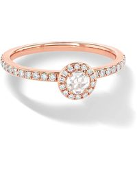 64 Facets Rose Gold Diamond Solitaire Ring - Black