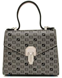 Moreau Faubourg 49 Top Handle Bag In Black And Silver