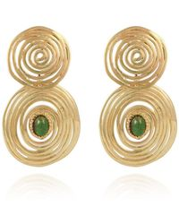 Gas Bijoux - Wave Stone Small Earring - Lyst
