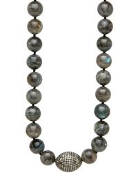 Hannah Ferguson - Grey Labradorite Necklace - Lyst