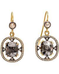 Sylva & Cie - Rough Cut Diamond Earrings - Lyst