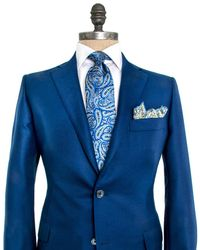 Belvest - Solid Blue Sportcoat - Lyst