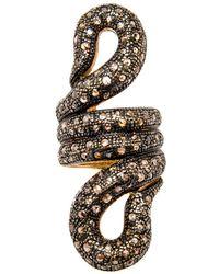 Loree Rodkin - Swirl Snake Body Ring - Lyst