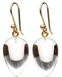 Ted Muehling - Clear Crystal Acorn Earrings - Lyst