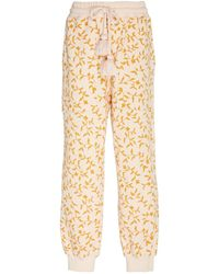 Ulla Johnson Gold And Cream Floral Pant Xs - Multicolor