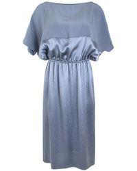 Rachel Comey | Silver Blue Hammered Silk Tonic Dress | Lyst