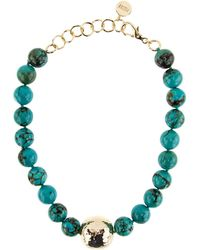 Nest - Jasper Turquoise Statement Necklace - Lyst
