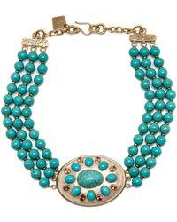 Ashley Pittman - Bendi Turquoise Necklace - Lyst