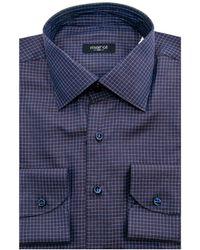 Marol - Plum Grid Check Dress Shirt - Lyst