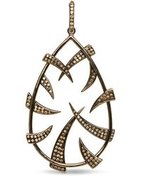 Loree Rodkin Oval Claw Pendant - Black