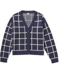 Kule The Digby Cardigan In Navy And Cream - Blue