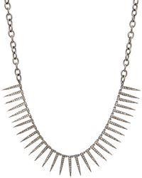 Hannah Ferguson Diamond Pave Spike Necklace - Black