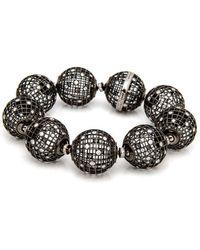 Roule & Co. - Brilliant Cut White Diamond Globe Bracelet - Lyst