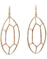 Julie Cohn - Oval Facet Bronze Earrings - Lyst