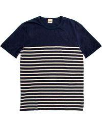 Baldwin Denim - Salem Navy Stripe Shirt - Lyst