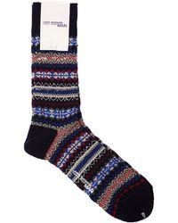 Junya Watanabe Wool Socks 'navy/blue'