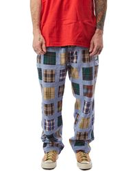 Stussy Madras Patchwork Relaxed Pant 'plaid' - Blue