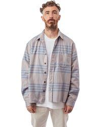 John Elliott Hemi Oversized Shirt 'acai Check' - Multicolour