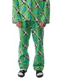 Brain Dead Bubble Pajama Bottom 'multi' - Green