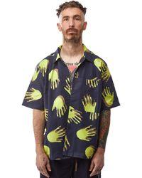 Brain Dead X Gotcha Poplin Snap Front Pocket Shirt 'navy' - Blue