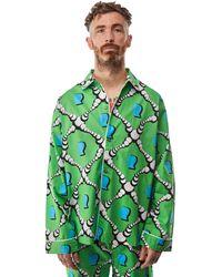 Brain Dead Bubble Pajama Top 'multi' - Green