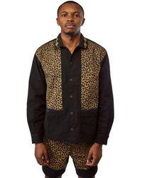 Brain Dead Cheetah Cabana Shirt 'brown'