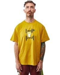 Brain Dead X Gotcha Og Tee 'gold' - Multicolour