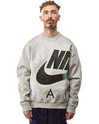 Nike X Kim Jones Crewneck 'heather Grey' - Gray
