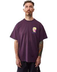 Brain Dead X Gotcha Rituals Tee 'plum' - Purple