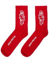 Heron Preston Ctnmb Sport Socks 'red'