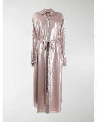 Y. Project Disco Shirt Dress - Pink