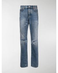 Givenchy Slim-fit Destroyed Denim Jeans - Blue