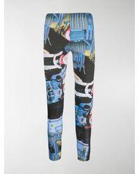 Comme des Garçons Graphic Print leggings - Blue