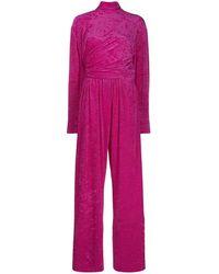 Balenciaga Jumpsuit aus Samt - Pink