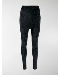 Balenciaga Drape Front leggings - Black