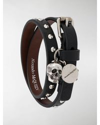 Alexander McQueen Skull Wrap Bracelet - Black