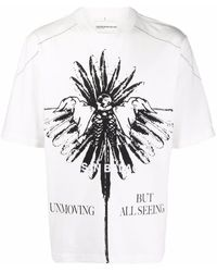 Youths in Balaclava Graphic-print Cotton T-shirt - White